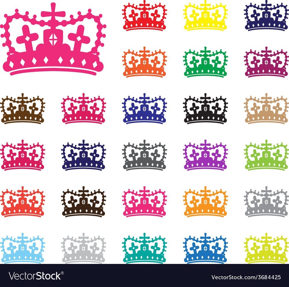 Crown set vector | Price: 1 Credit (USD $1)
