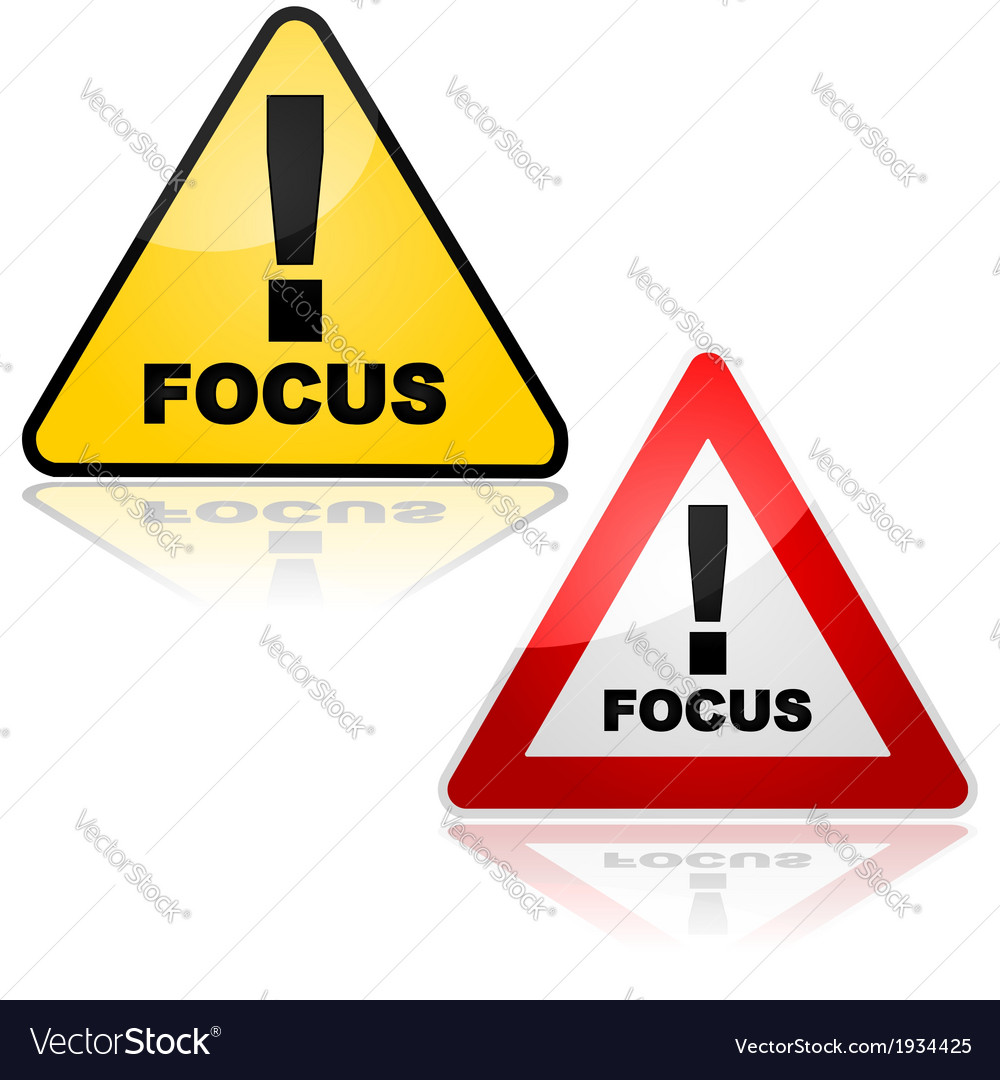 Focus alert vector | Price: 1 Credit (USD $1)