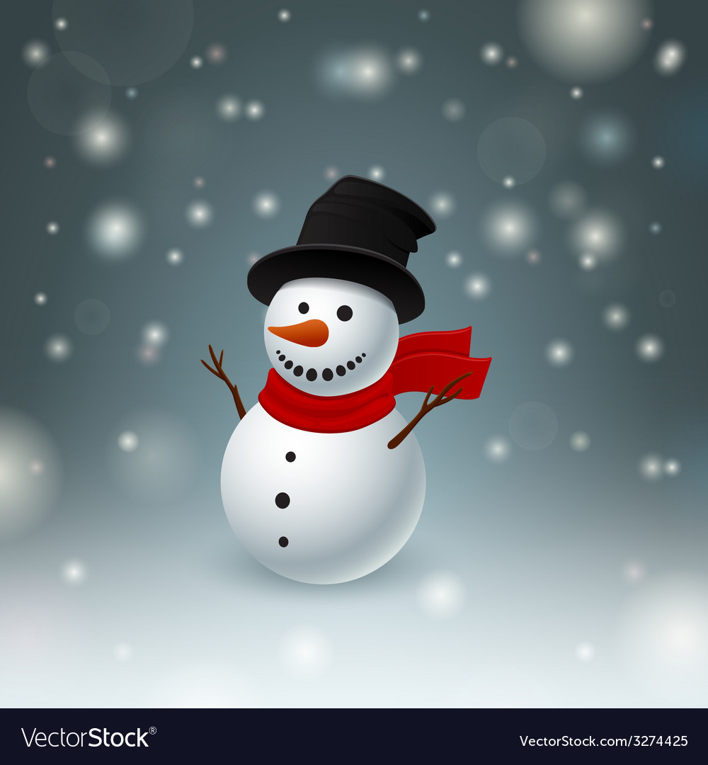 Funny snowman vector | Price: 1 Credit (USD $1)