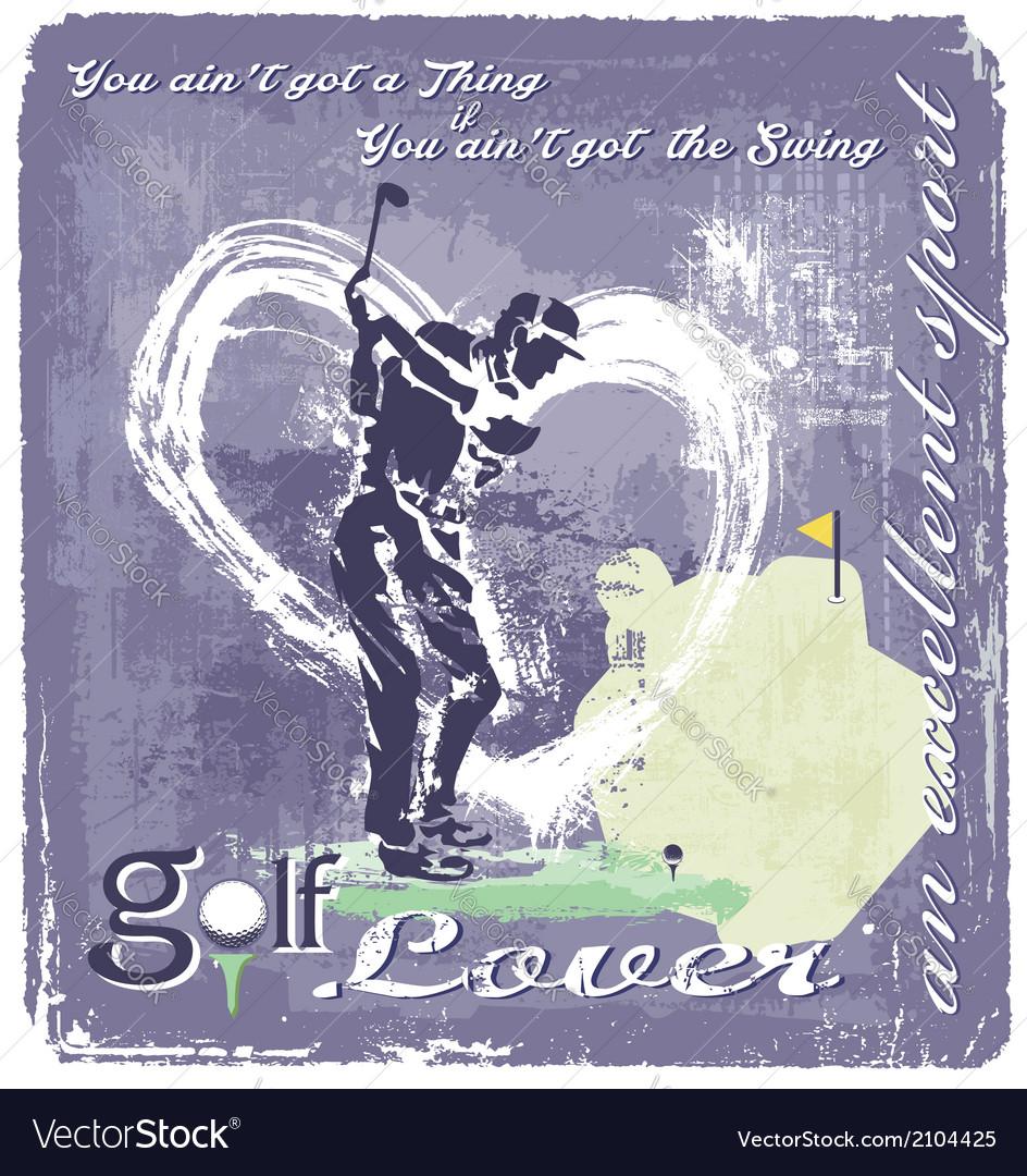 Golf swing vector | Price: 3 Credit (USD $3)