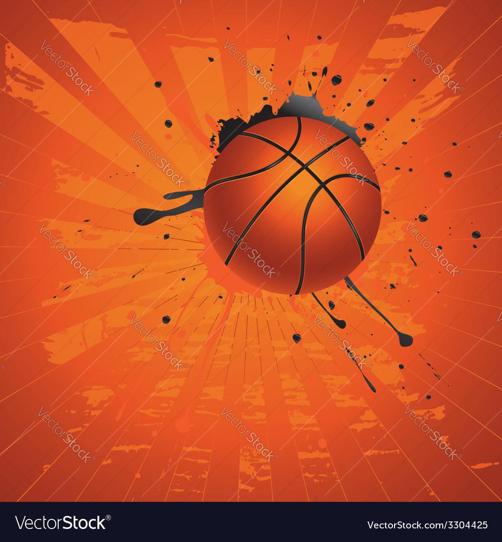 Grunge basketball2 vector | Price: 1 Credit (USD $1)