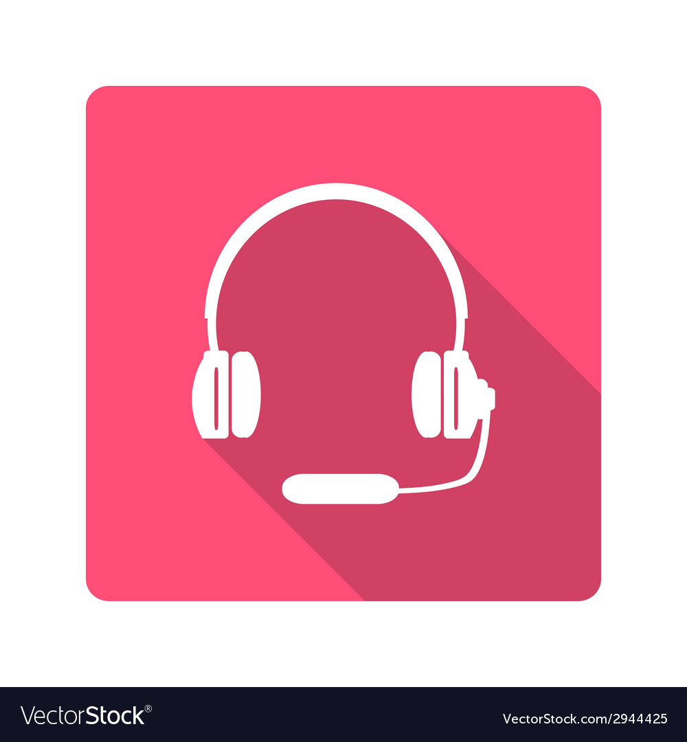 Headphones with microphone icon vector | Price: 1 Credit (USD $1)
