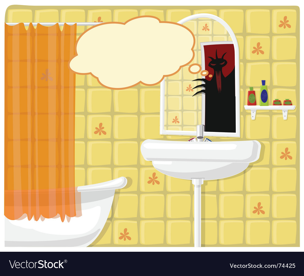 Illustration of bathroom monster vector | Price: 1 Credit (USD $1)