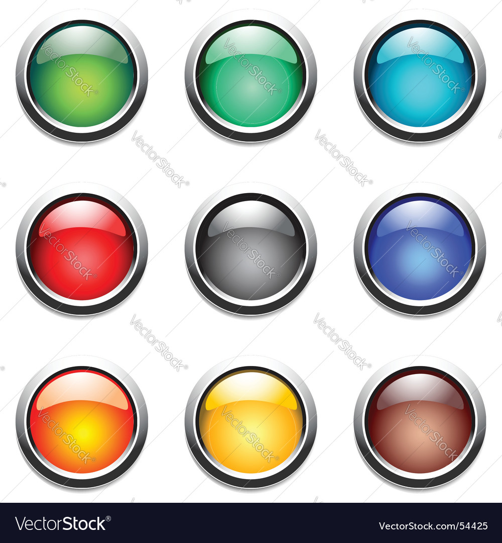 Round buttons set vector | Price: 1 Credit (USD $1)