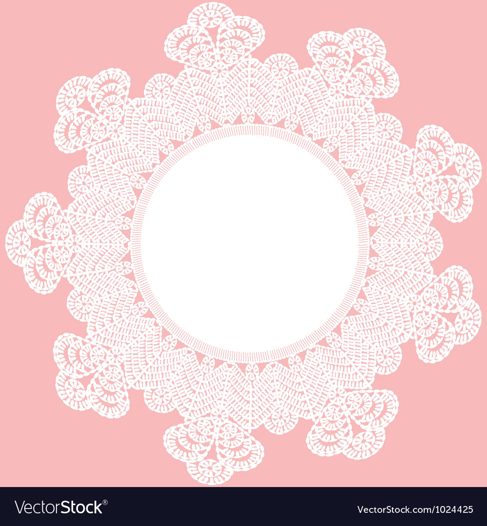 Round crochet doily vector | Price: 1 Credit (USD $1)