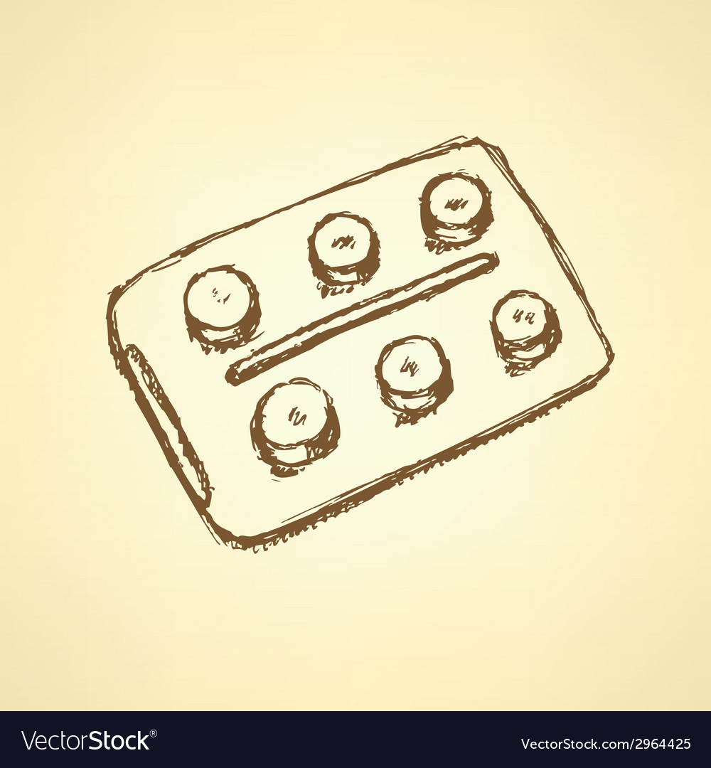 Sketch tablets pachege in vintage style vector | Price: 1 Credit (USD $1)