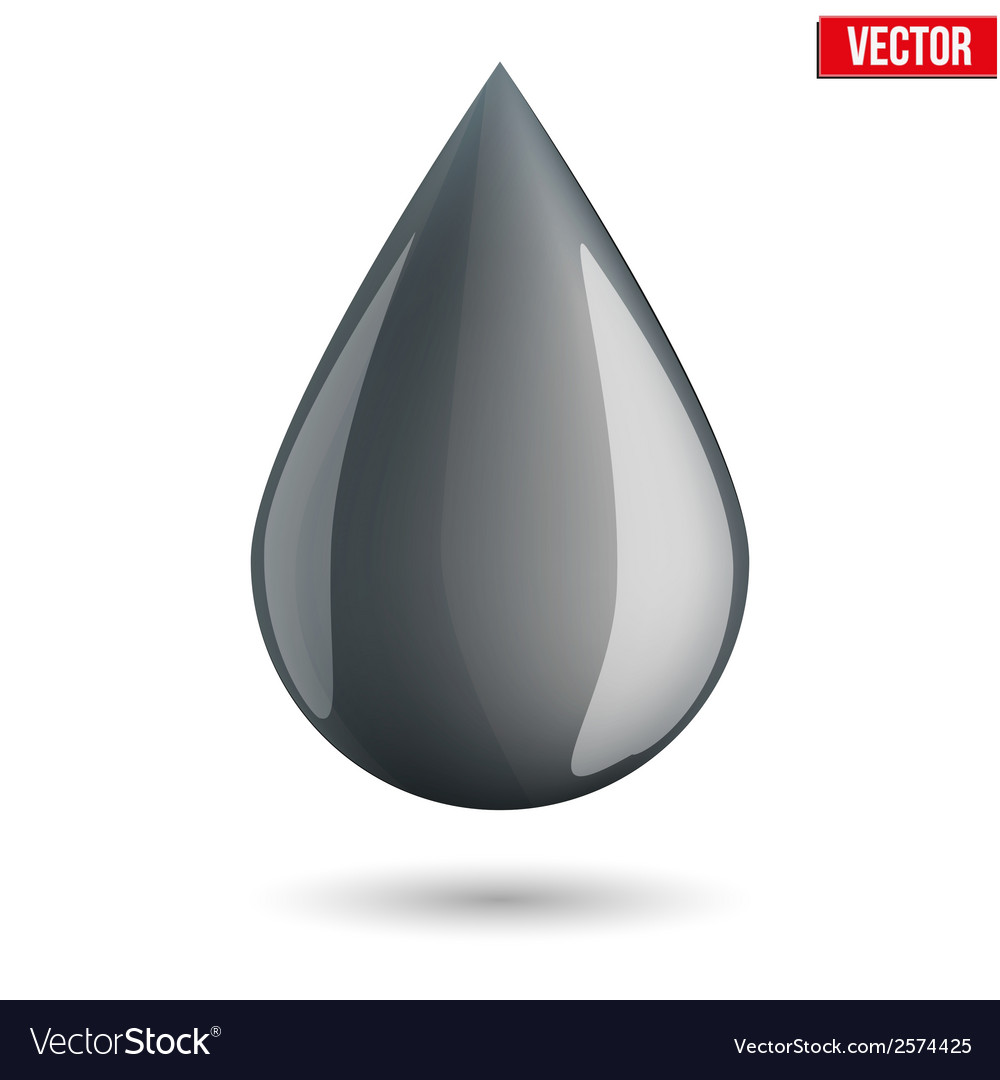 Symbol of petroleum black drop vector | Price: 1 Credit (USD $1)