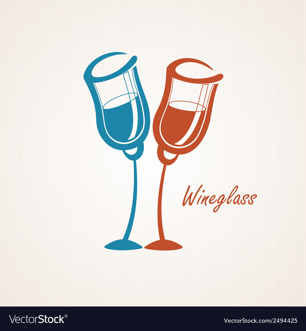Two glasses vector | Price: 1 Credit (USD $1)