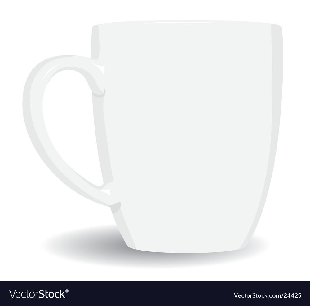 White mug on white background vector | Price: 1 Credit (USD $1)