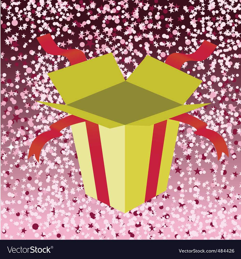 Birthday gift box vector | Price: 1 Credit (USD $1)