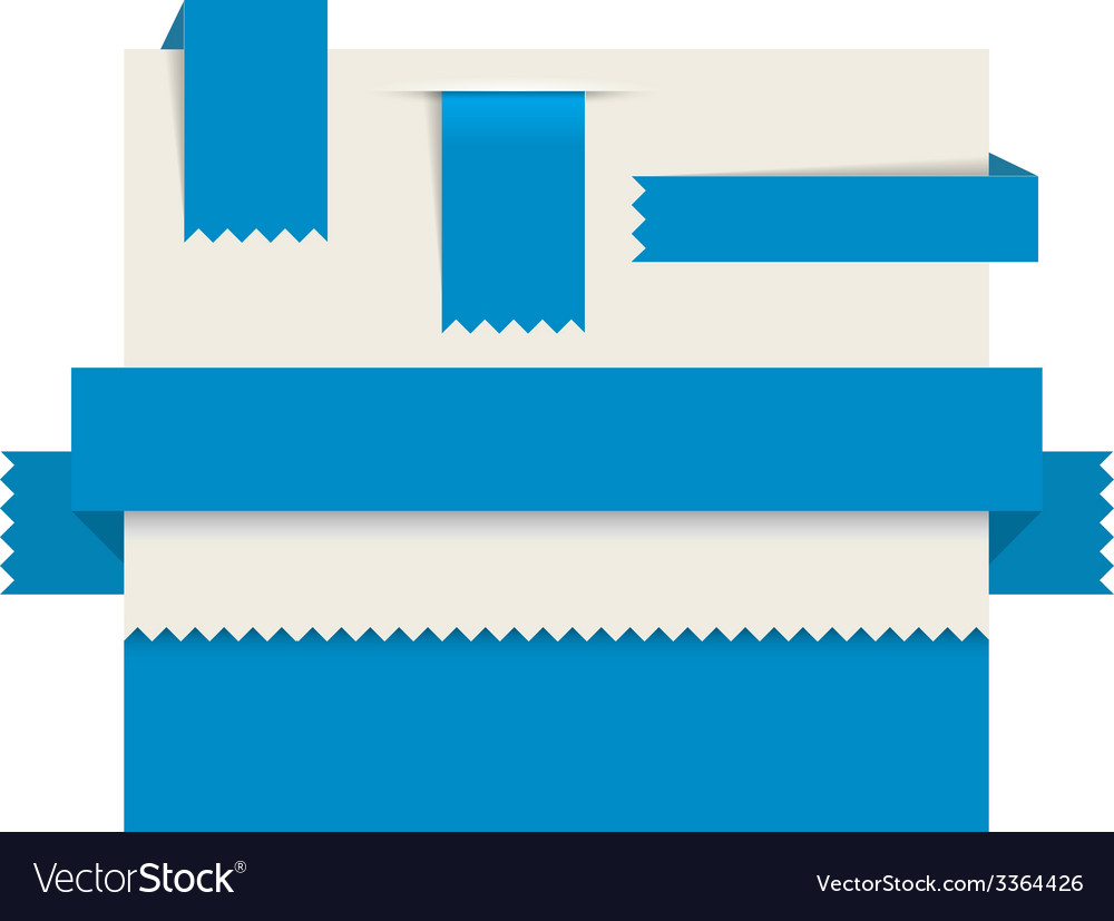 Blue paper tags - ribbons vector   Price: 1 Credit (USD $1)