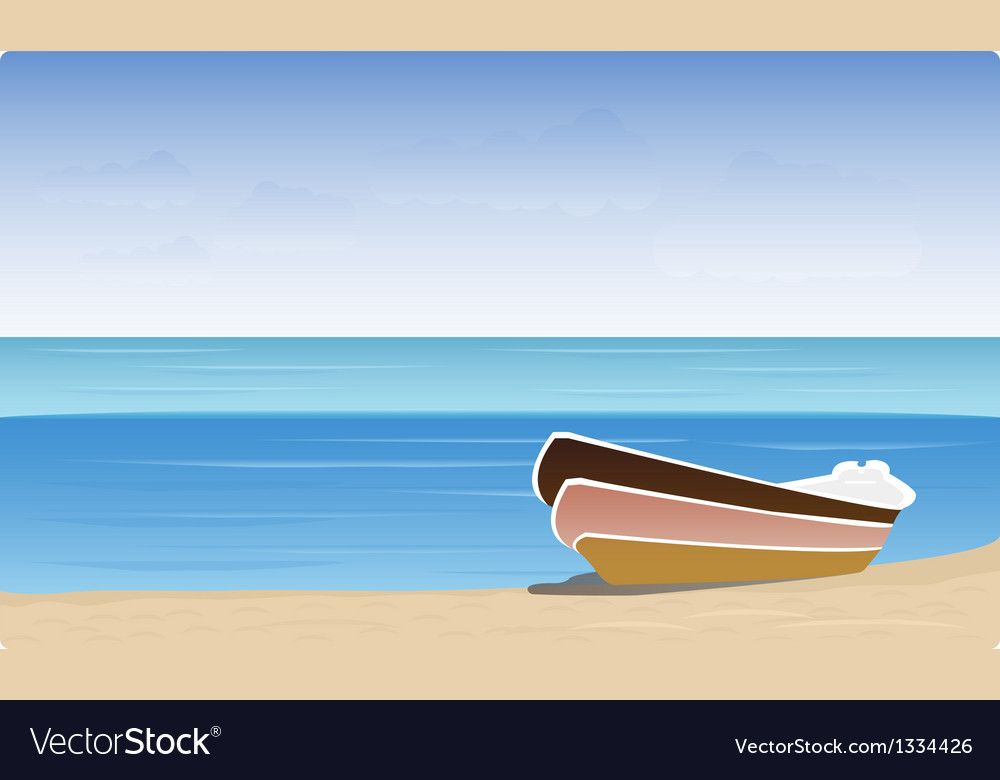 Boat beach vector | Price: 1 Credit (USD $1)