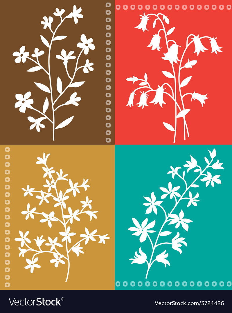 Botanical floral vector | Price: 1 Credit (USD $1)