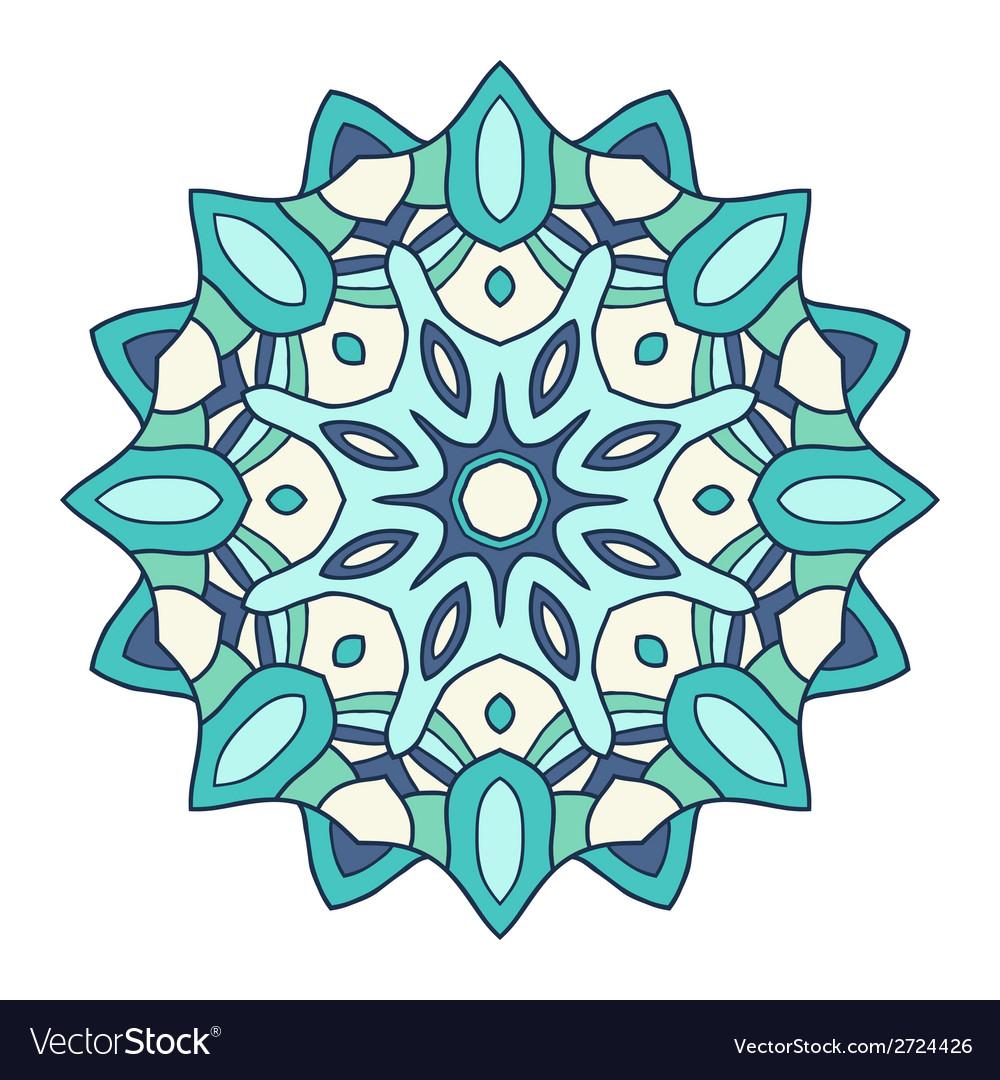 Circular decorative ornament arabic pattern vector | Price: 1 Credit (USD $1)