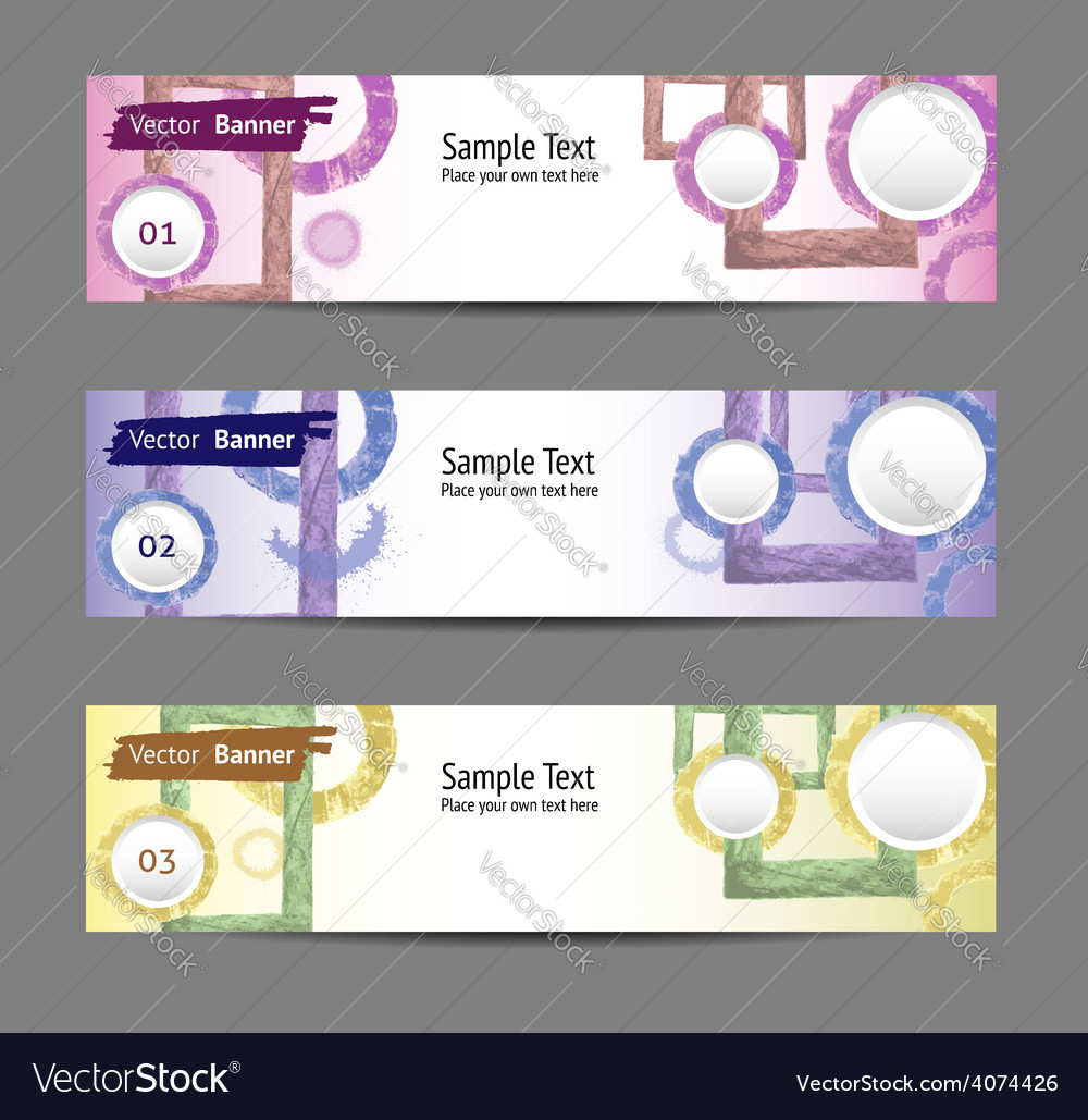 Set of colorful banners eps 10 vector | Price: 1 Credit (USD $1)