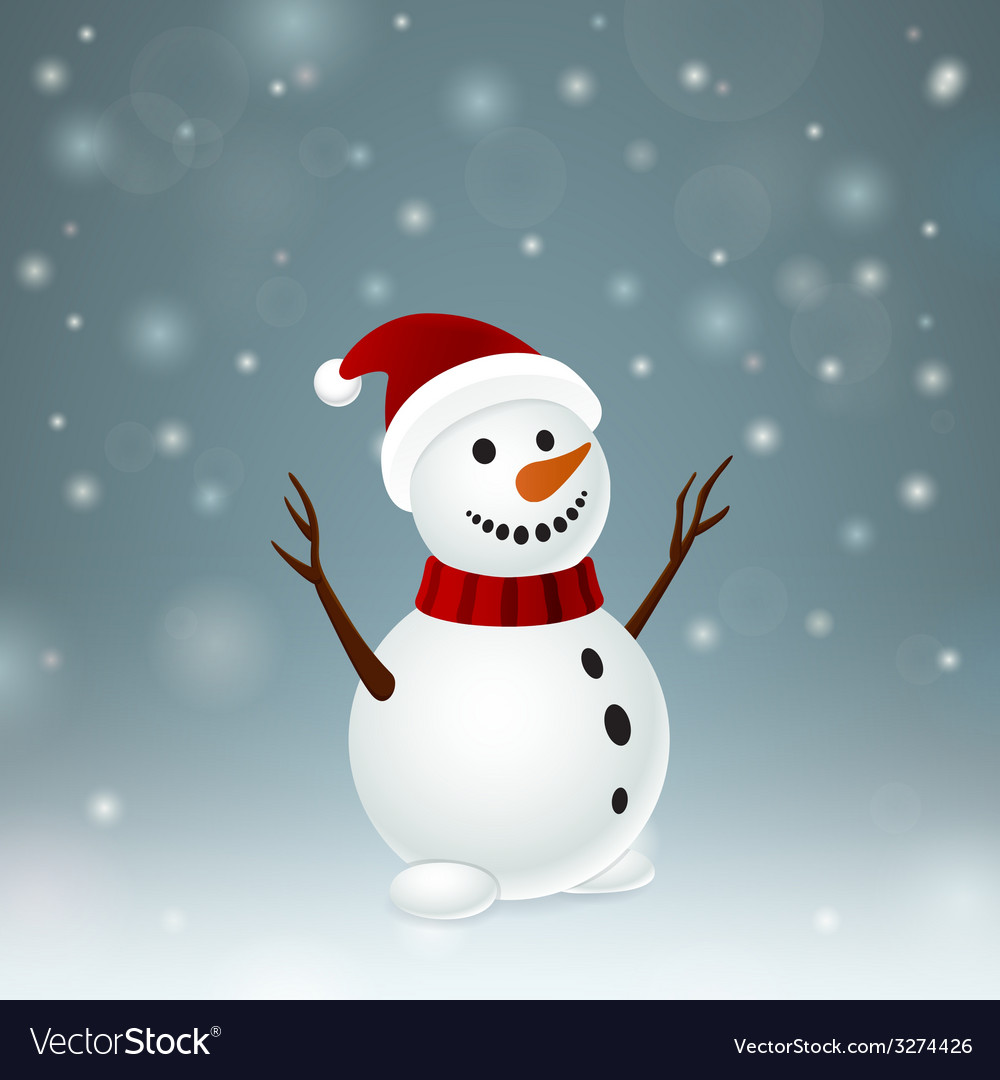 Smiley funny snowman vector | Price: 1 Credit (USD $1)