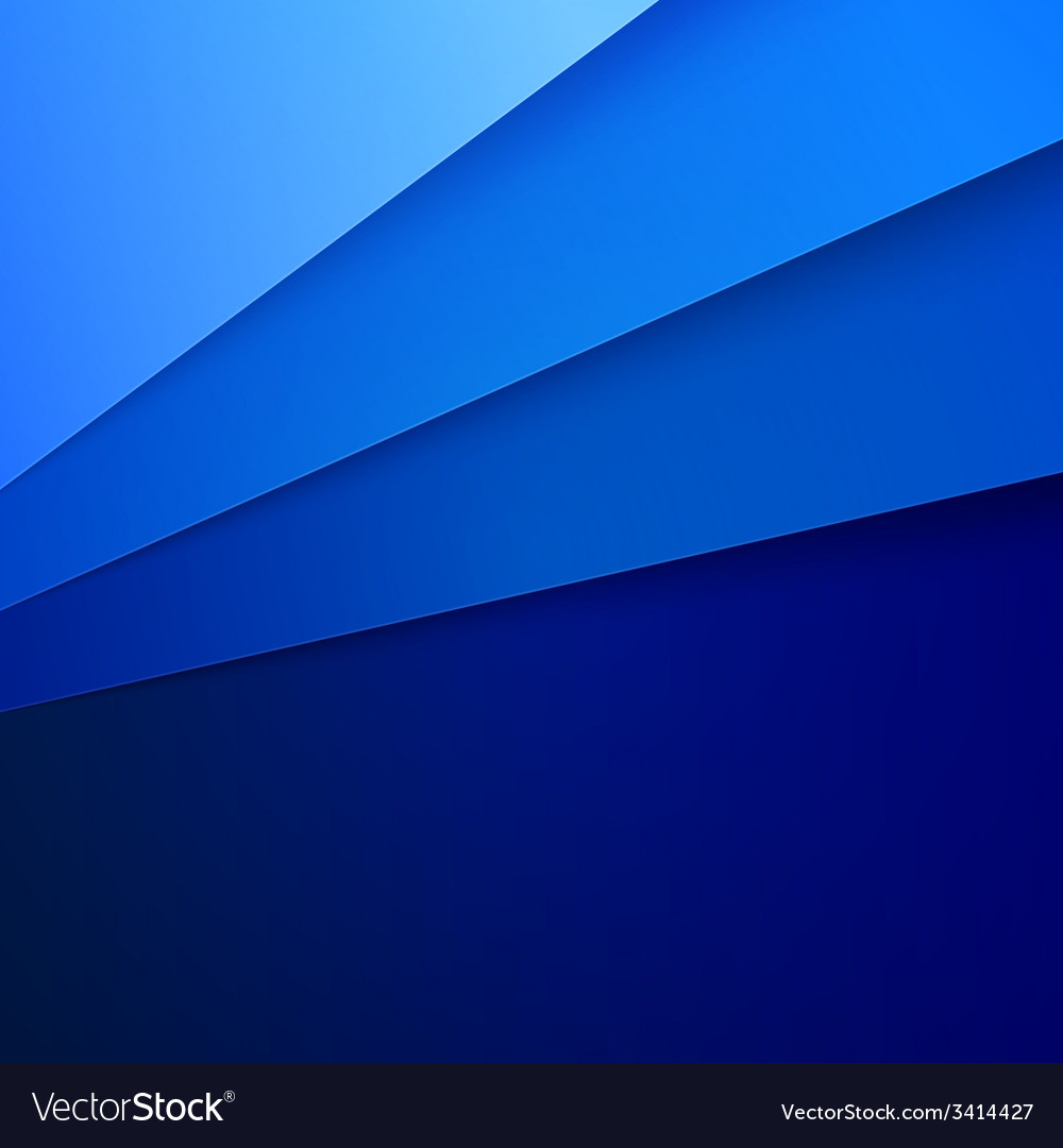 Blue paper layers abstract background vector | Price: 1 Credit (USD $1)