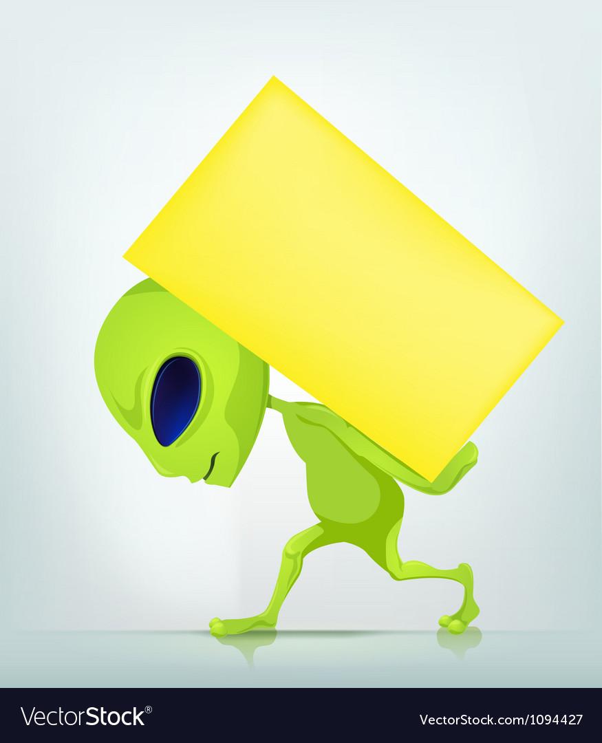 Cartoon character alien 038 cs5 vector | Price: 1 Credit (USD $1)