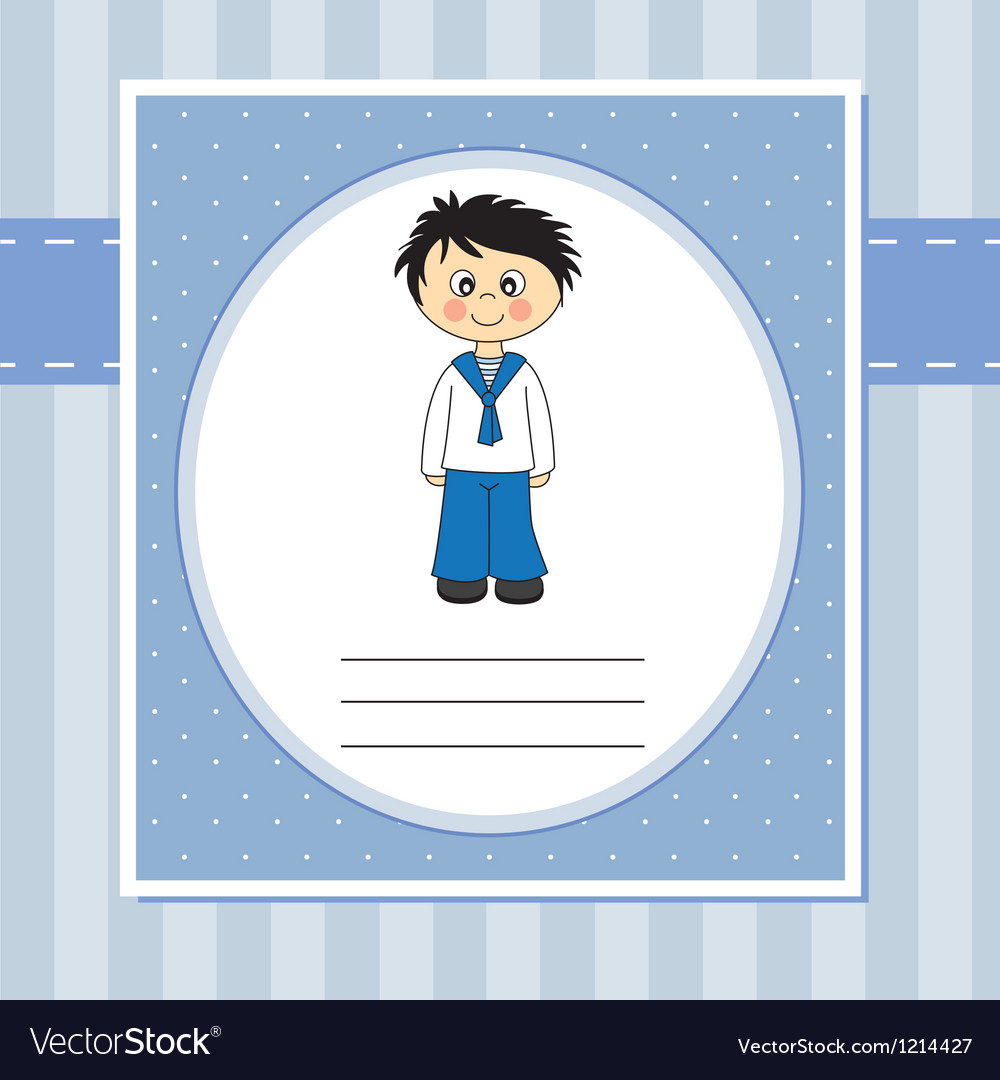 First communion invitation card vector | Price: 1 Credit (USD $1)