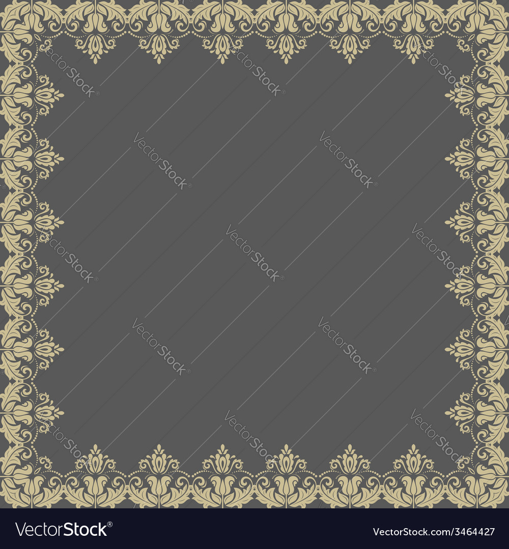 Floral pattern abstract frame vector | Price: 1 Credit (USD $1)