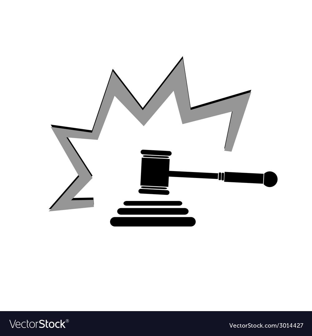 Judge hammer vector | Price: 1 Credit (USD $1)