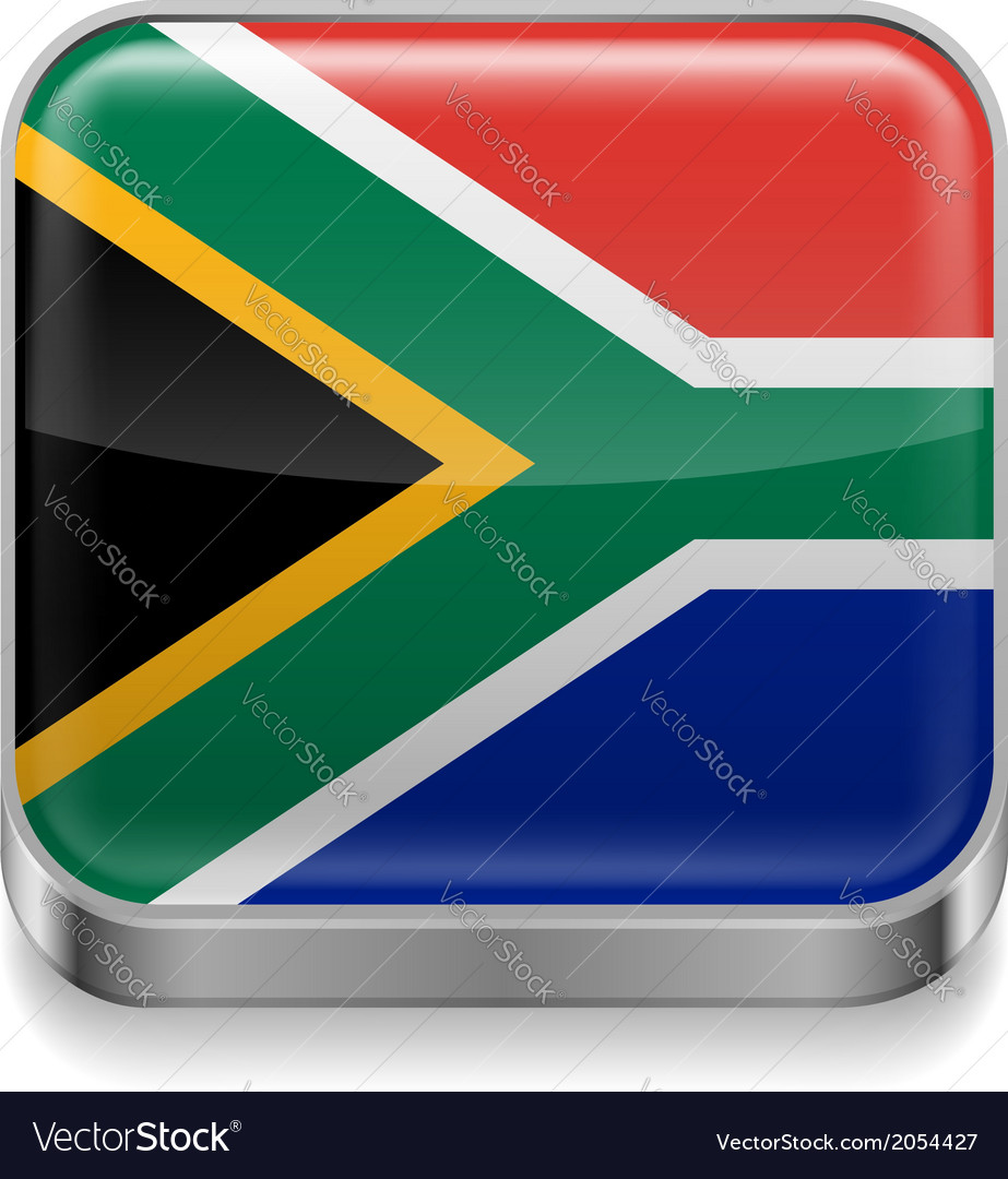 Metal icon of south africa vector | Price: 1 Credit (USD $1)