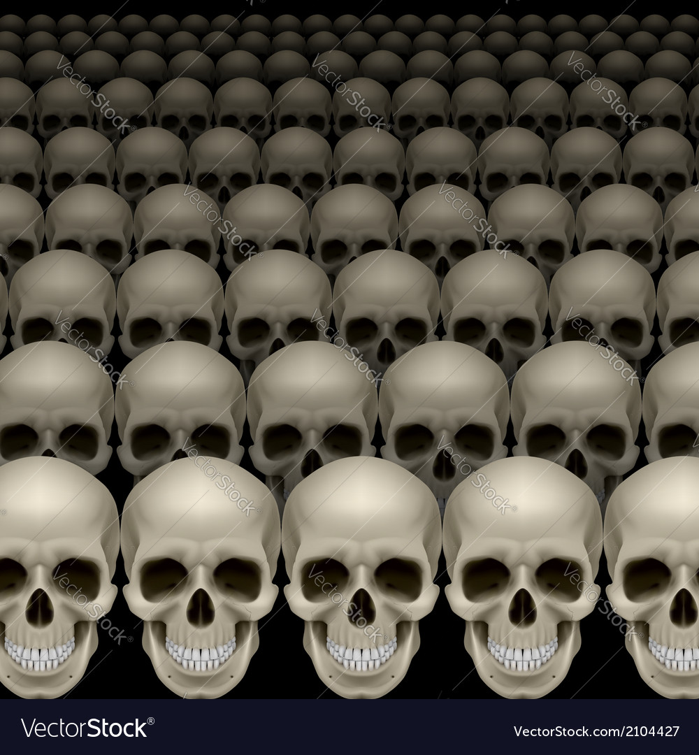 Rows of skulls vector | Price: 1 Credit (USD $1)