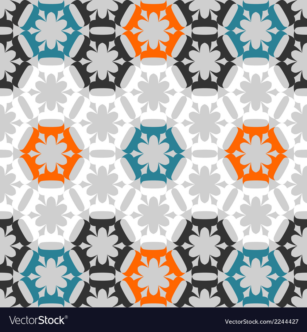 Seamless stylized floral pattern vector | Price: 1 Credit (USD $1)
