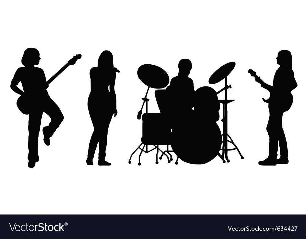 Singing band vector