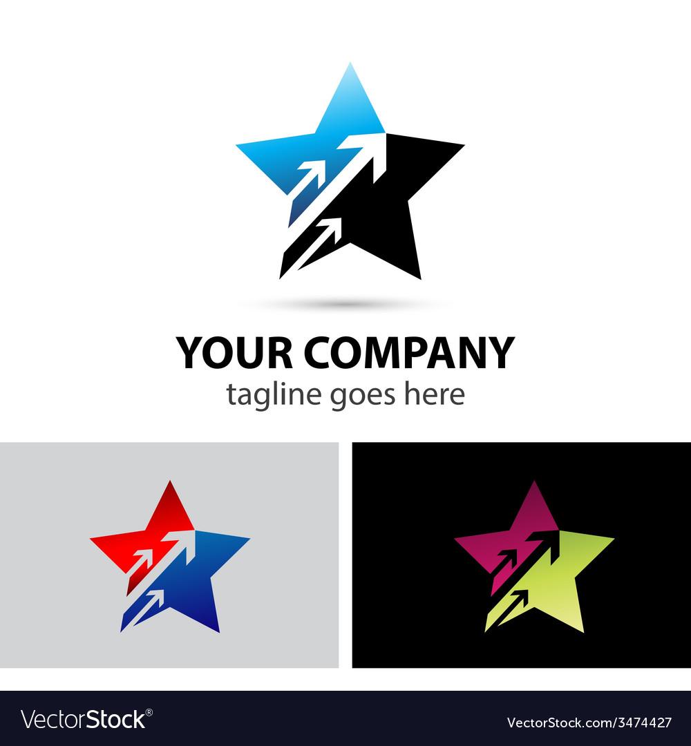 Star logo symbols with arrow vector | Price: 1 Credit (USD $1)