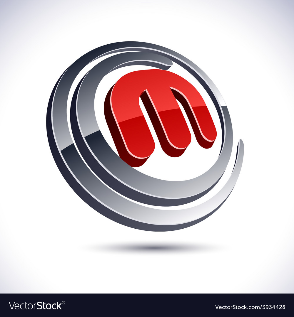 3d m letter icon vector | Price: 1 Credit (USD $1)