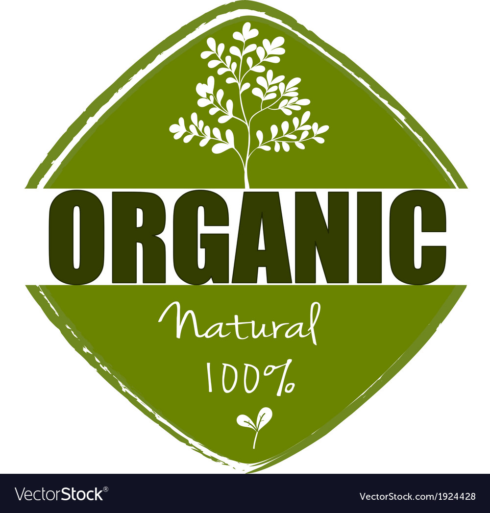 A natural organic label vector | Price: 1 Credit (USD $1)