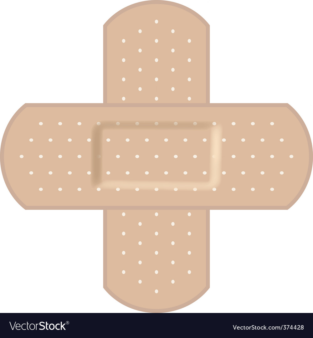 Adhesive bandages forming a cr vector | Price: 1 Credit (USD $1)