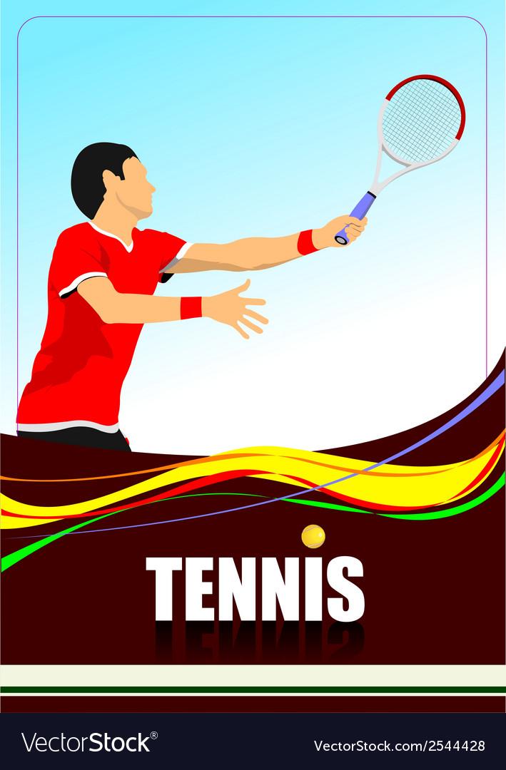 Al 1009 tennis 01 vector | Price: 1 Credit (USD $1)