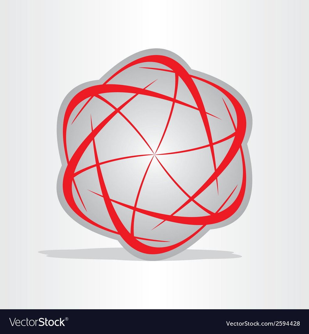 Atom energy abstract symbol vector | Price: 1 Credit (USD $1)