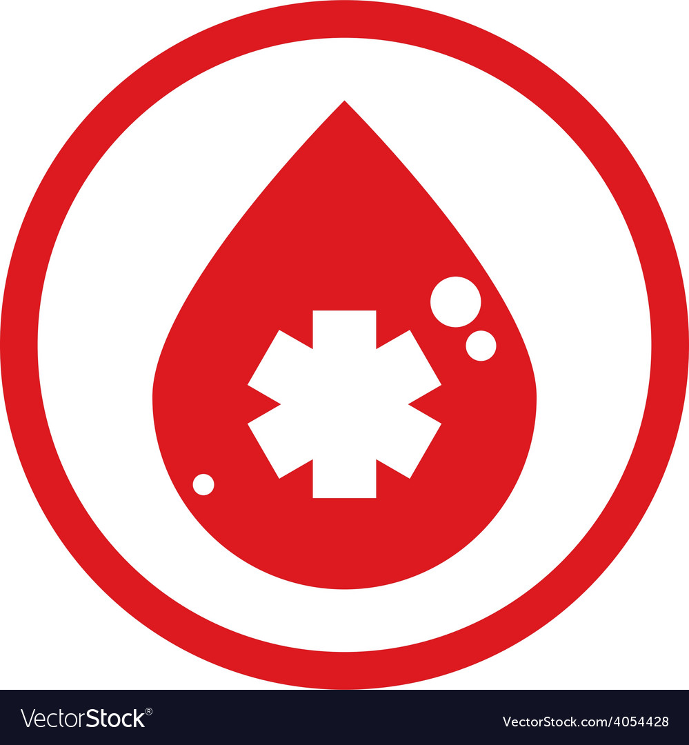 Drop of blood icon vector | Price: 1 Credit (USD $1)