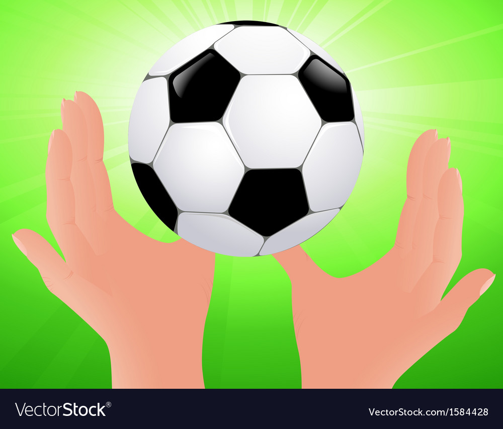 Football bright background vector | Price: 1 Credit (USD $1)