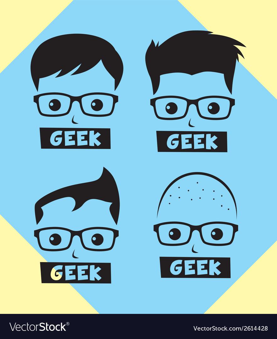 Geek vector | Price: 1 Credit (USD $1)