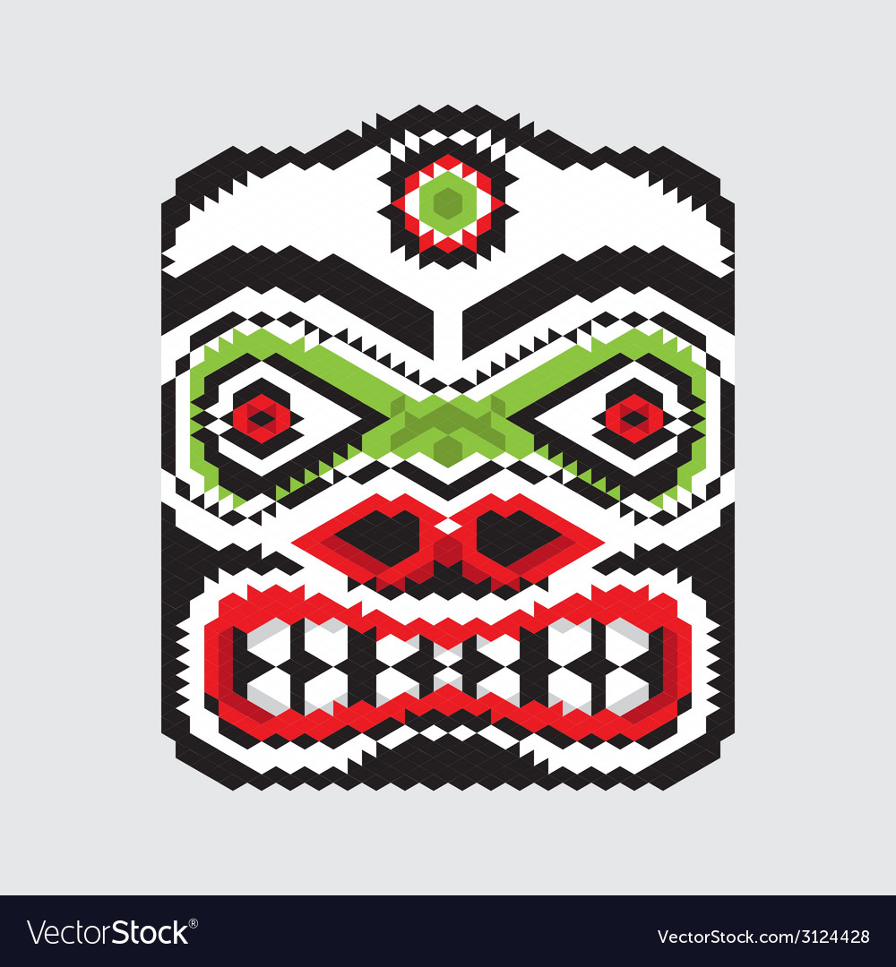 Geometric haida mask vector | Price: 1 Credit (USD $1)