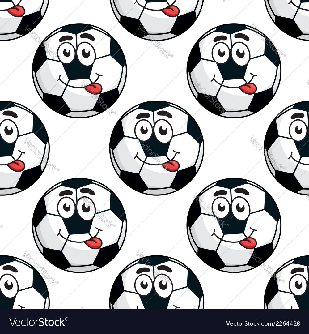 Goofy soccer ball seamless pattern vector | Price: 1 Credit (USD $1)