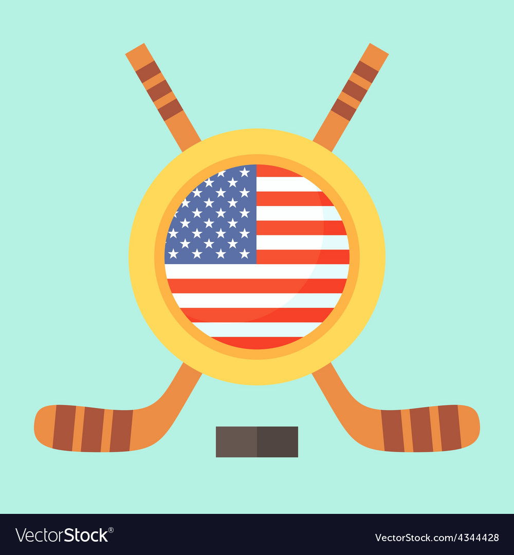 Hockey in united states vector | Price: 1 Credit (USD $1)