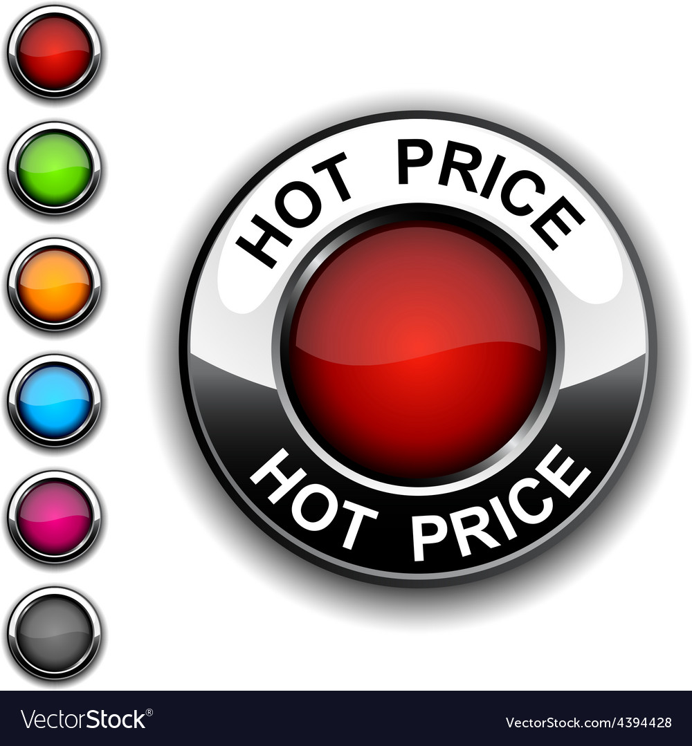 Hot price button vector   Price: 1 Credit (USD $1)