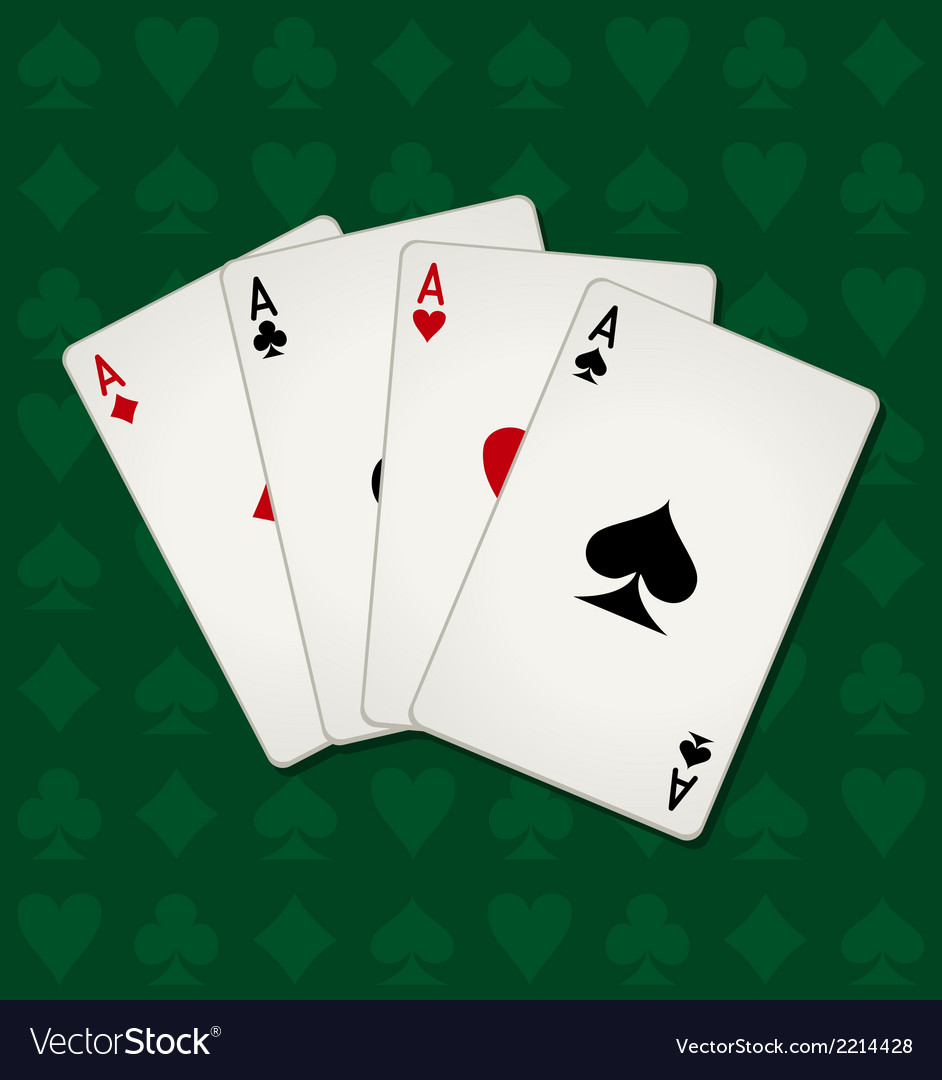 Poker of aces vector