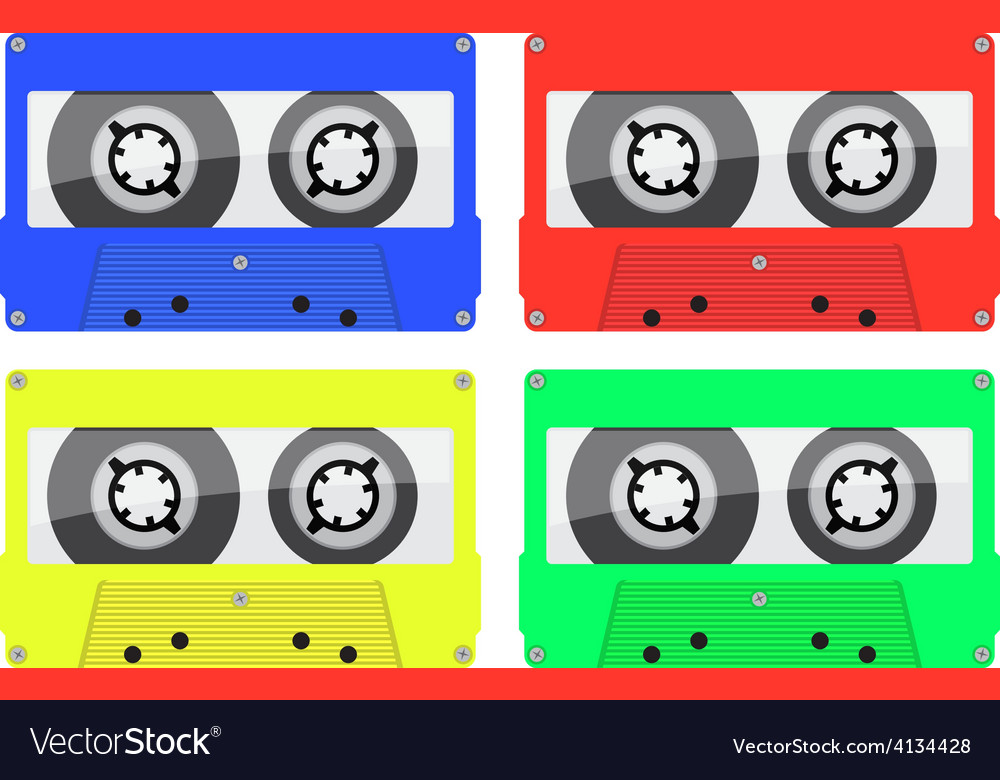 Retro music cassette vector | Price: 1 Credit (USD $1)