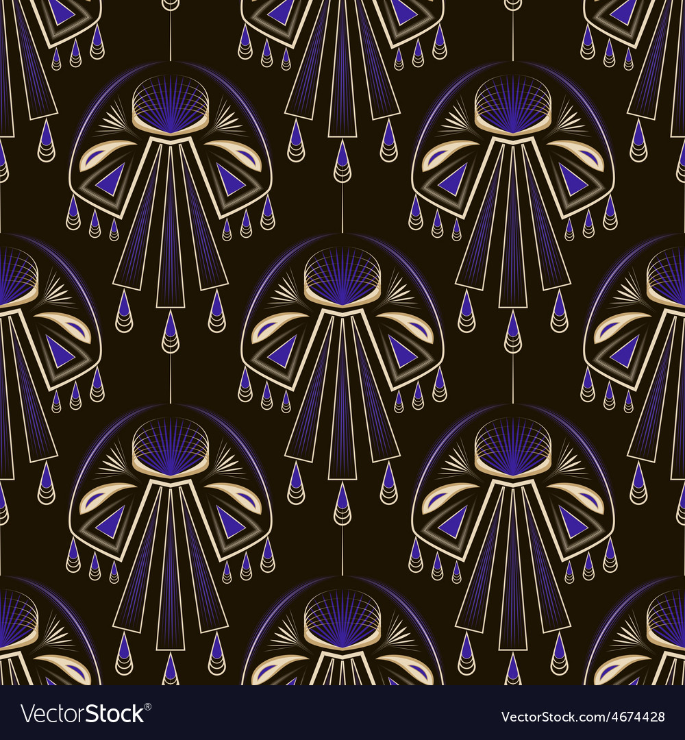 Seamless beautiful antique art deco pattern orname vector | Price: 1 Credit (USD $1)
