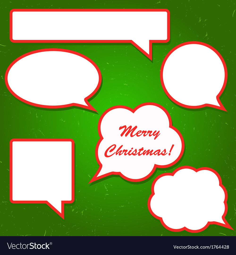 Set of bright red speech bubbles for your vector | Price: 1 Credit (USD $1)