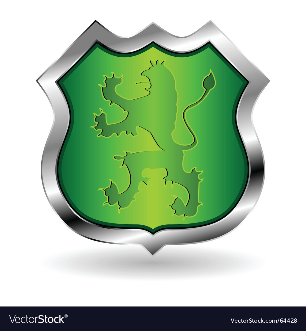 Shield with lion vector | Price: 1 Credit (USD $1)