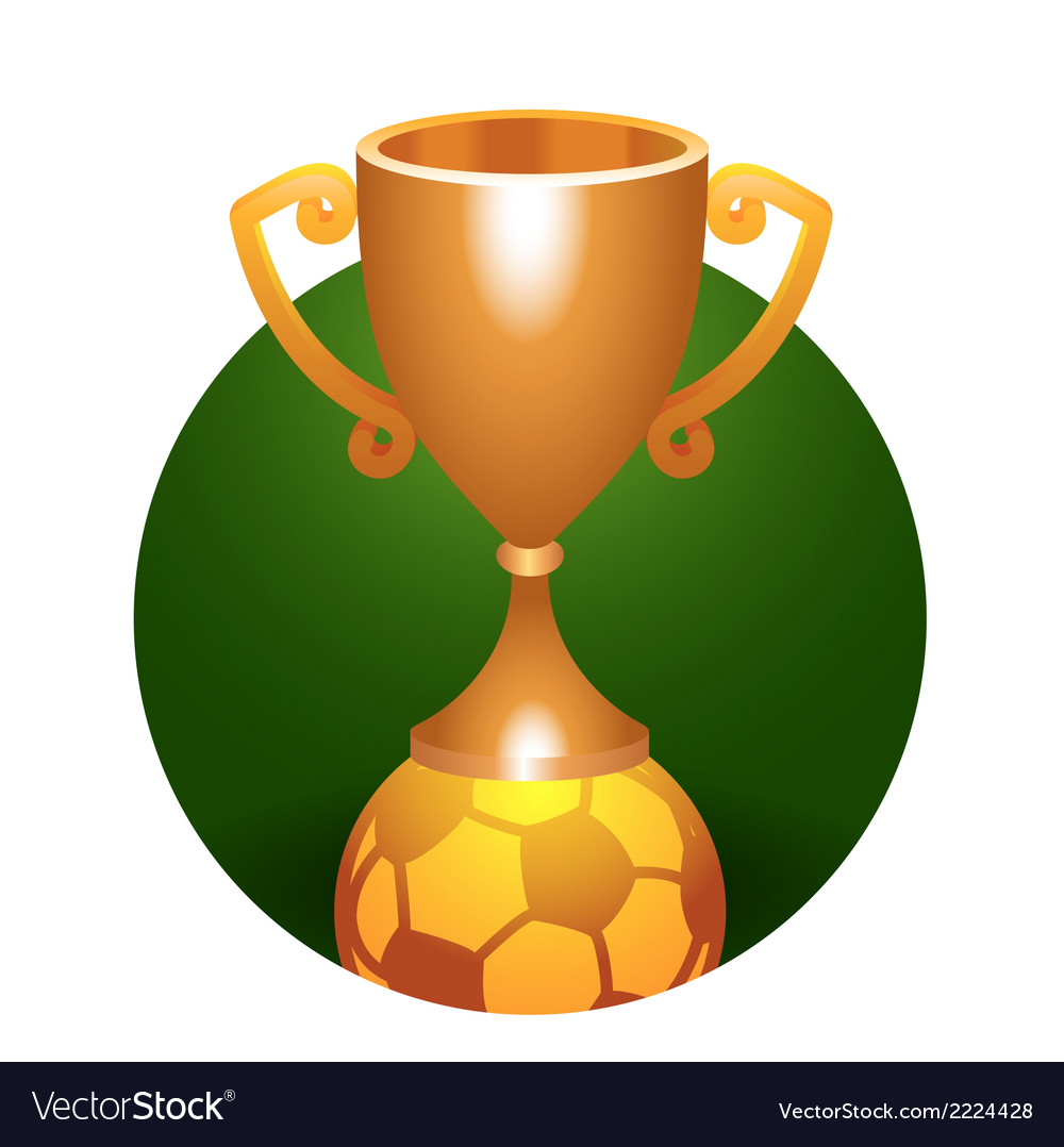 Soccer ball trophy bronze cup vector | Price: 1 Credit (USD $1)