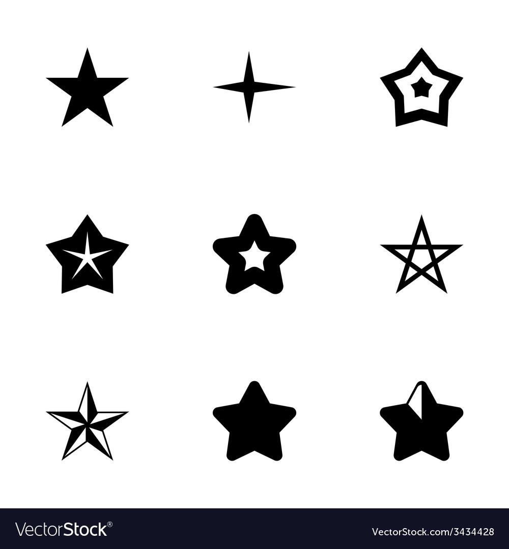 Stars icon set vector | Price: 1 Credit (USD $1)