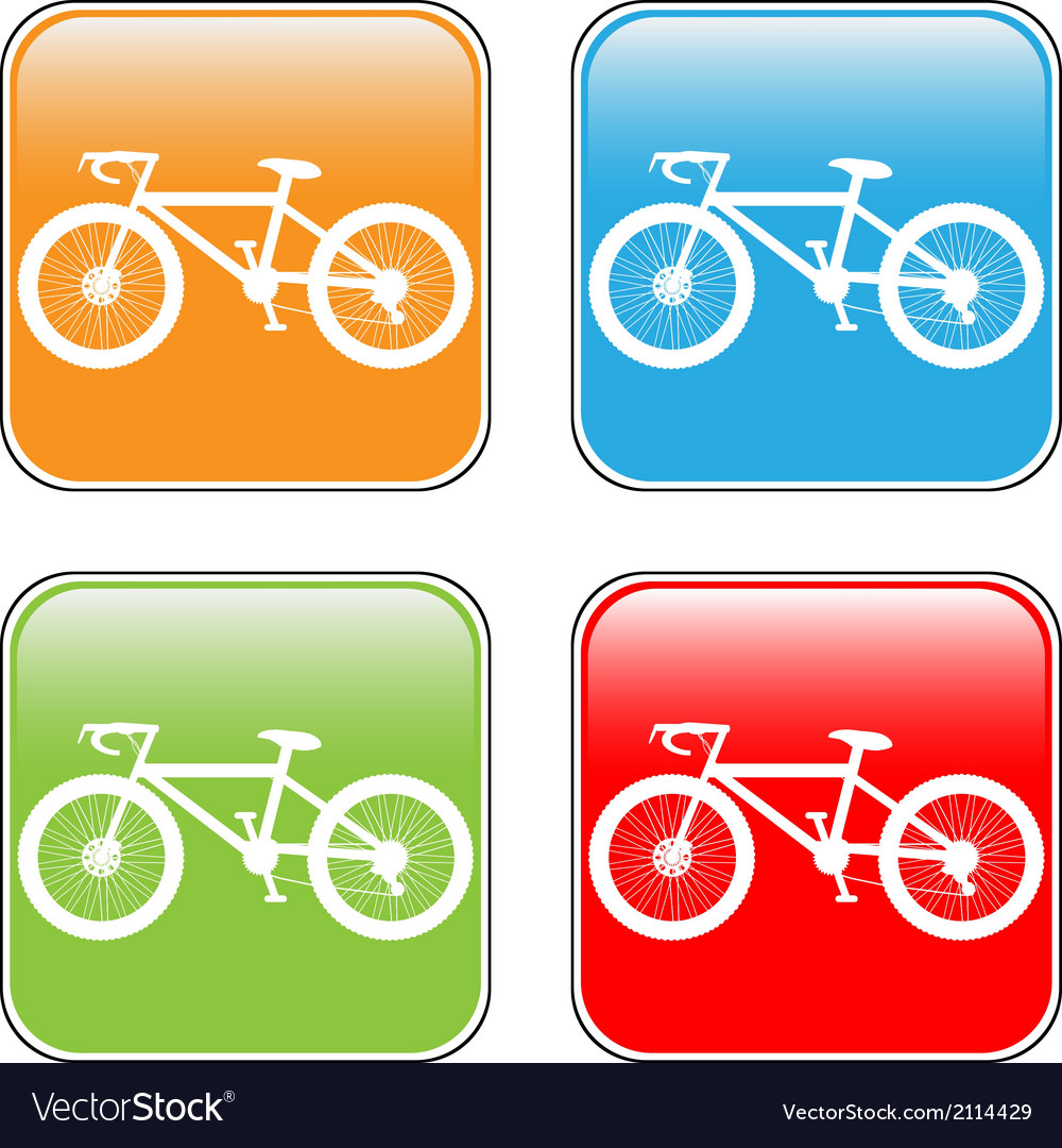 Bike buttons set vector | Price: 1 Credit (USD $1)